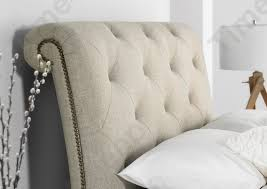 kaydian belford oatmeal upholstered sleigh bed upholstered beds