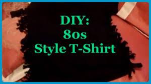 Halloween Themed Shirts Diy 80s Style T Shirt Youtube