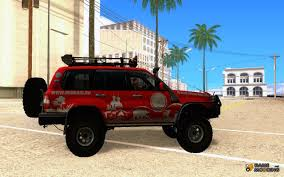 land cruiser off road toyota land cruiser 100 off road for gta san andreas