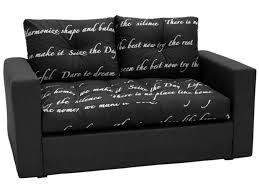petit canap pour enfant canape lit deplimousse ecriture noir