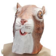 cute squirrel mask creepy animal halloween costume theater prop