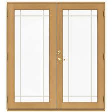 9 Patio Door Jeld Wen 72 In X 80 In W 2500 Vanilla Clad Wood Left 9 Lite