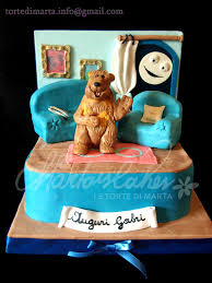 bear in big blue house cake cakes i made pinterest big blue