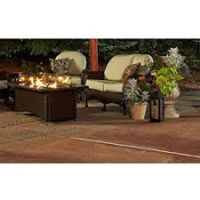 napa valley crystal fire pit table amazon com grandstone crystal fire pit table w napa valley base