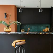kitchen wall colors with black cabinets black kitchen ideas designs for cabinets worktops