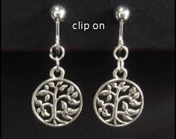 clip on earrings australia costume clip on earrings tree of silver plated tole055