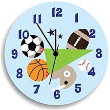 amazon com sport wall clock for boys bedroom nursery wall art