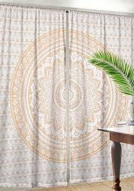 indian curtains mandala window curtain indian tapestry drapes for