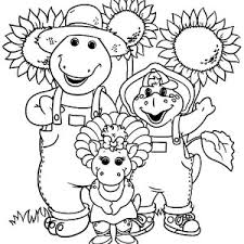 vacation ba bop barney coloring pages vacation ba 18785