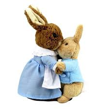rabbit by beatrix potter beatrix potter rabbit and mrs rabbit duo soft plush toys