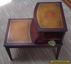 leather top side table vintage imperial mahogany leather top side end table for sale in