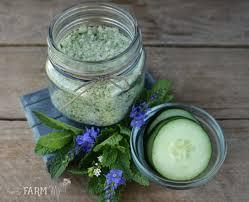 cucumber mint bath soak