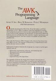 pattern matching using awk exles the awk programming language amazon co uk alfred v aho brian w