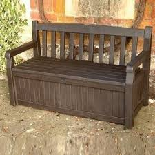 Outside Storage Bench Outdoor Waterproof Storage Bench Foter