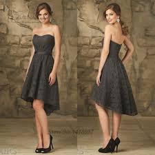 aliexpress com buy cheap dark grey short lace bridesmaid dresses