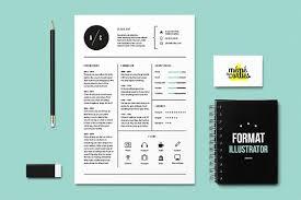 illustrator resume templates cat resume template illustrator resume templates creative market