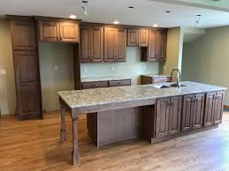 Kitchens With Hickory Cabinets Oconomowoc Rustic Hickory Cabinet Kitchen Remodel