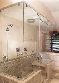 frameless glass shower doors ceiling bathroom design splashy