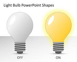 free light bulb powerpoint shapes free powerpoint templates