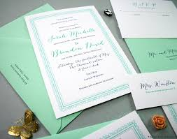 mint wedding invitations custom save the dates unique wedding invitations personalized