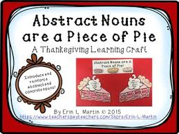 abstract noun thanksgiving bundle by erin l martin tpt