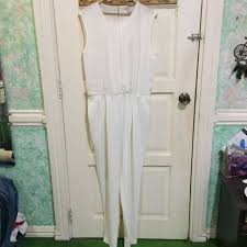 forever 21 white jumpsuit forever21 white jumpsuit preloved s fashion clothes on