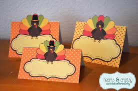 thanksgiving place cards table tents food labels two sizes