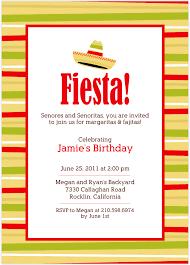 Backyard Birthday Party Invitations Fiesta Party Invitations Kawaiitheo Com