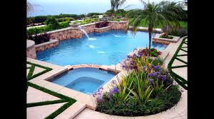 Landscaping Ideas For Backyards by Swimming Pool Landscaping Ideas For Backyard 2017 Youtube