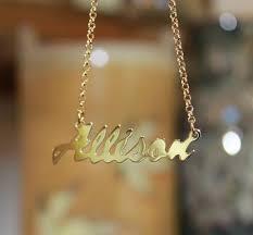 Cursive Name Necklace Monogram Necklaces Monogram Jewelry The Purple Mermaid