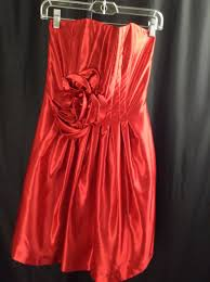 2a jessica mcclintock red formal short strapless cocktail dress 8