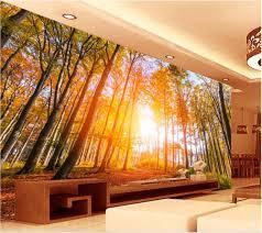 online get cheap autumn wall murals aliexpress com alibaba group custom mural 3d wallpaper picture autumn sunshine woods living room decoration painting 3d wall murals wallpaper