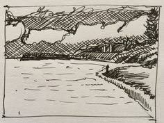quick sketch at the beach sketchbook skool pinterest at the