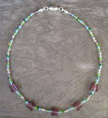 bead necklace clasp images Little girl beaded necklace purple butterfies magnetic clasp jpg