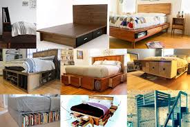 Build Wood Platform Bed by Wood Platform Beds With Storage Drawers