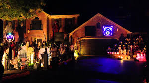 Decorated Homes For Halloween Webb Halloween Lights Omg Another Awolnation Halloween Light Show