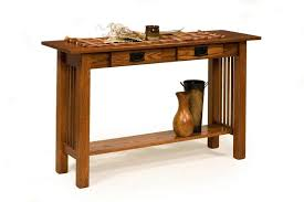 american mission sofa table with two drawers from dutchcrafters amish