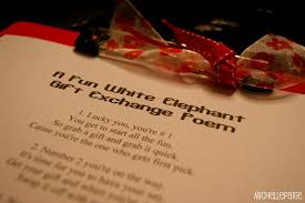 a fun white elephant gift exchange poem for christmas
