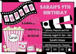 movie theater birthday party invitations dolanpedia invitations