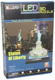 amazon com statue of liberty 3d puzzle with led 37 pieces daron