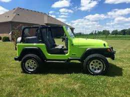 dark green jeep wrangler sub lime green tj jeep wrangler tj forum
