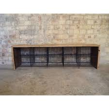 Wood Bench With Metal Legs Furniture Locker Room Bench With Metal Wire Stitch Rack Under