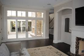 French Doors With Transom - paulina private residence chicago craftsman family room