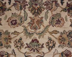 Antique Area Rug Brown Beige Gold Green Traditional Tufted Wool Area