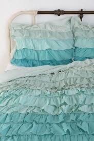 Teal Ruffle Shower Curtain by Rebecca Porter You Could Make Pillowcases U0026 A Comforter To Match
