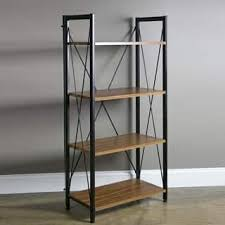 baxton studio lindo bookcase single pull out shelving cabinet baxton studio bookshelves bookcases for less overstock com