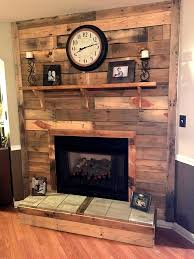 Wood Mantel Shelf Diy by Diy Pallet Fireplace 101 Pallet Ideas Organize Your Home