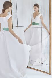carolina herrera wedding dresses carolina herrera v neck a line wedding dress with green belt fall