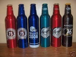 bud light aluminum bottles nfl budweiser bud light nfl aluminum beer bottles 31353465