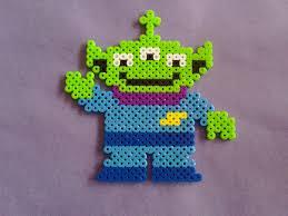 toy story eyed alien perler bead sprite